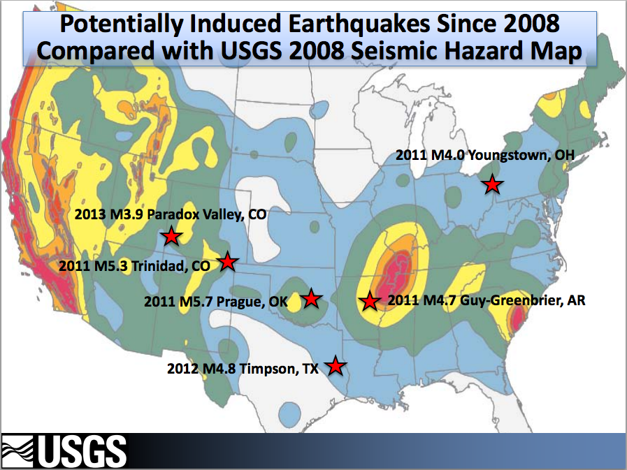 Induced earthquakes usgs map of induced earthquakes gumiabroncs Gallery